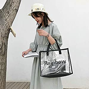 Clear PVC + leather tote from a few seasons back. Photo by