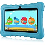 "7"" Kids Tablets, Android 7.1 RK3126C Quad Core, Ainol Q88 Kids Education Tablet with 1GB ROM+8GB RAM, Dual 0.3MP Cam,Portable Kid-Proof Shock-Proof Silicone Case for Kids Tablet PC(1GB, Blue)"