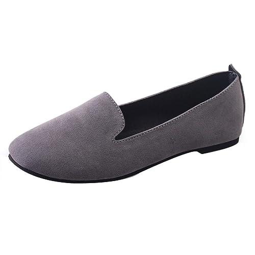 Mocasines Planos pie Redondo para Mujer, QinMM Zapatos cómodos del otoño del Verano Sandalias: Amazon.es: Zapatos y complementos