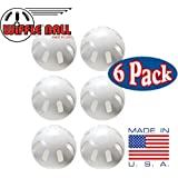 Wiffle Ball 6 Baseballs Official Size - 6 Pack