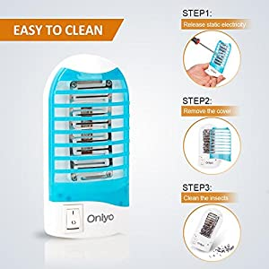 Oniyo Bug Zapper Electric Insect Killer lamp Mosquito Gnat Most Flying Pests Trap Bedroom Indoor for Deep Sleep