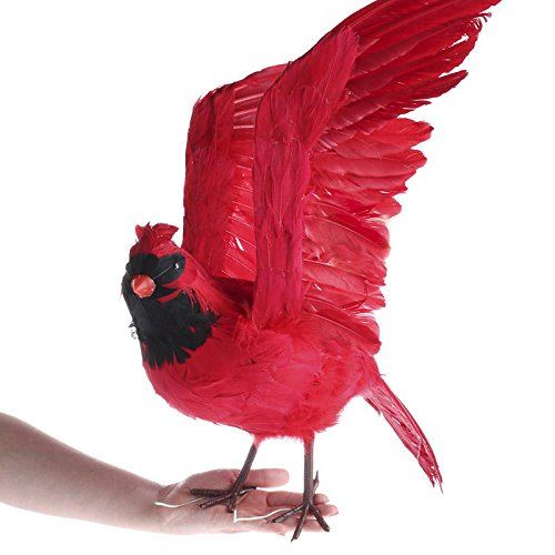 Factory Direct Craft Large Flying Feathered Artificial Cardinal Bird with Attached Wires