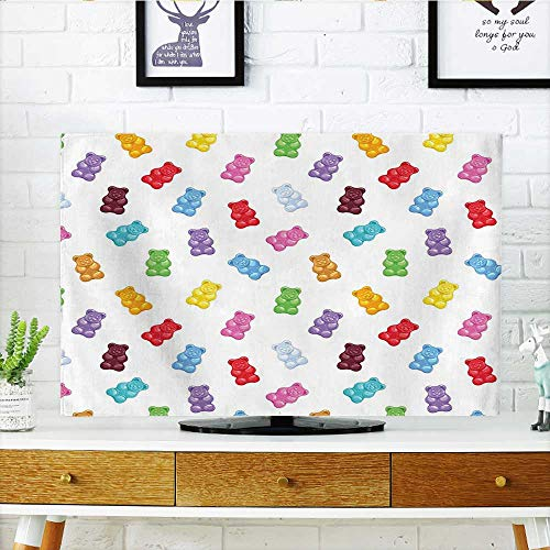 Jiahonghome Cord Cover for Wall Mounted tv Colorful Gummy Bears Kids Candy Yummy Jelly Playroom Kids Baby Nursery Theme Image Cover Mounted tv W20 x H40 INCH/TV 40