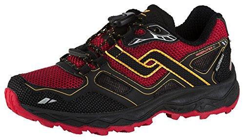 Pro Touch scarpa da trail running ridger unner IV AQB, Nero/Rosso/Arancione ,34