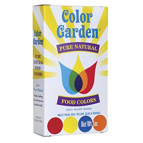 Food Multi Pack (Color Garden Pure Natural Food Colors, Multi Pack 5 ct)