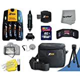 Ideal Accessory Kit for Canon Powershot SX160 IS Digital Cameras Includes 16GB High Speed Memory Card + 4 AA High Capacity 3100mAh Rechargeable Batteries with Quick AC/DC Charger + Water Resistant Padded Case + Universal Card Reader + Mini Table Tripod +
