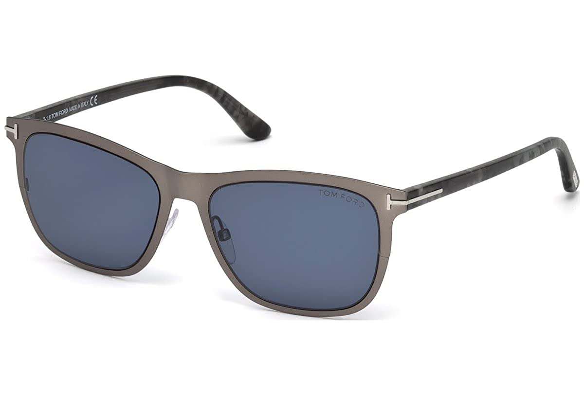 a2754a2551c Tom Ford ALASDHAIR FT 0526 Ruthenium Blue 55 17 145 Men Sunglasses at  Amazon Men s Clothing store