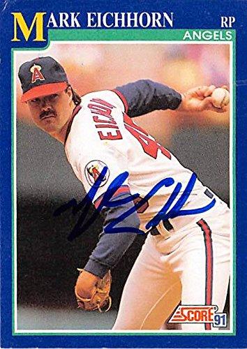 Mark Eichhorn Autographed Baseball Card California Angels 1991