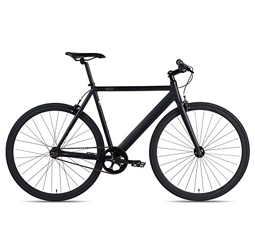6KU Track Fixed Gear Bicycle, Black/Black, 55cm