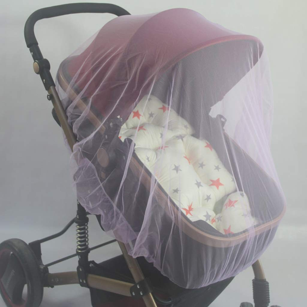 Bed Canopies & Drapes Infants Baby Stroller Pushchair Nets Safe Mesh Buggy Crib Netting Cart Pushchair Full Cover Netting Durable mattresses and curtains ( Color : Purple , Size : 27.55-59.05inchs ) by LQW HOME (Image #5)