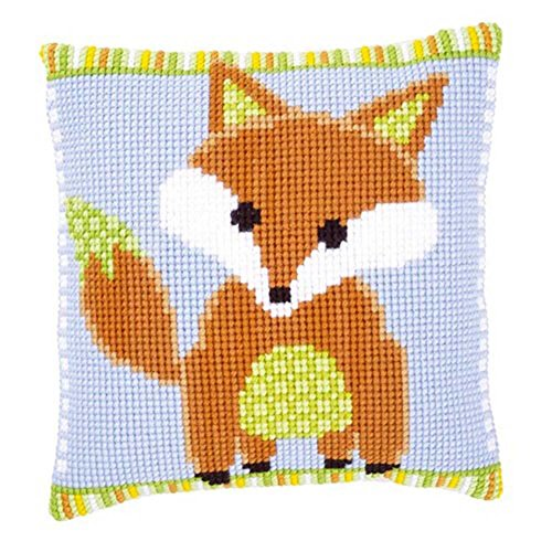 Vervaco Brown Fox Pillow Cover Cross Stitch Kit