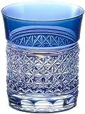 カガミクリスタル ロックグラス(麻の葉紋) 250cc 江戸切子 T542-1441CCB