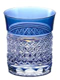 Kagami Crystal Edo Kiriko hemp striated rock glass T542-1441-CCB T542-1441-CCB
