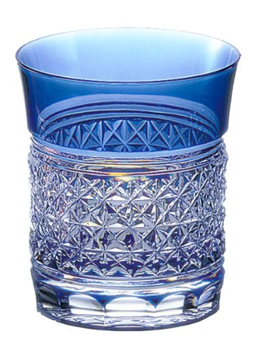 Kagami Crystal Edo Kiriko hemp striated rock glass T542-1441-CCB T542-1441-CCB by Kagami Crystal