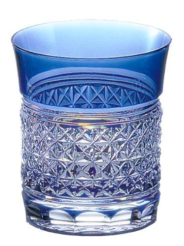 Kagami Crystal Edo Kiriko hemp striated rock glass T542-1441-CCB T542-1441-CCB by Kagami Crystal