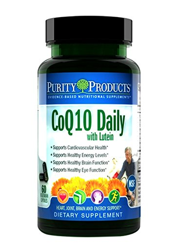 CoQ10 Daily with Lutein from Purity Products - Provides superior quality Kaneka Q10 plus FloraGLO Lutein - Supports heart and cardiovascular function and ocular health - 60 Vegetarian Capsules