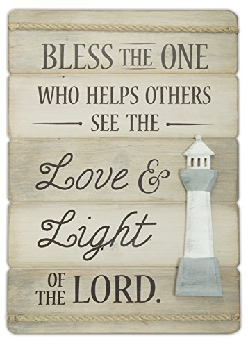 Abbey Gift Love & Light Lighthouse Wall Plaque