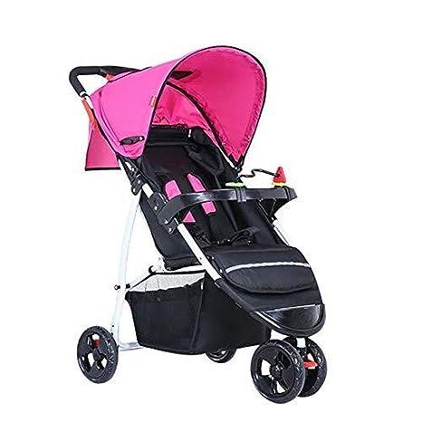 JJJJD Carro de bebé Cochecito Plegable Travel Easy Ligero ...