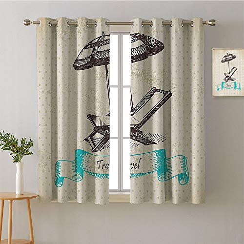 (Suchashome Curtain Backdrop Grommets Bedroom Darkening Curtains Room Darkening Curtains reducing Noise Darkening Curtains Bedroom/Living (1 Pair, 52