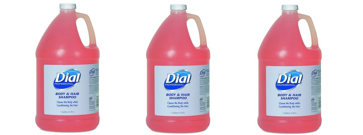 Dial Professional 03986 Body and Hair Care, 1gal Bottle, Gender-Neutral Peach Scent (Case of 4) (3-(Case of 4))