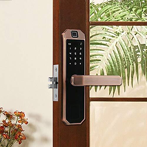 BLWX - Smart Door Lock-zinc Alloy-Indoor Wooden Door Fingerprint Lock Home Security Door Lock Smart Lock Password Lock Electronic Lock Office Rental Room Card-Size: 23.5X5.8cm Door Lock (Color : B) by BLWX-home renovation. Door lock (Image #4)