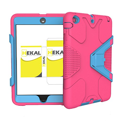 Super Slim Smart Leather Cover Case for Apple iPad mini 4 (Red) - 3