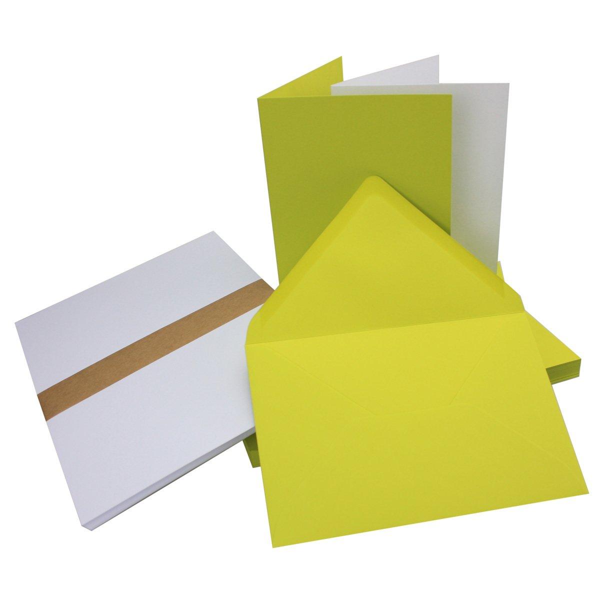 Set di biglietti pieghevoli, in formato DIN B6, con buste e inserti, ideale per biglietti di invito e di auguri, adattiper la stampante, marchio di qualità Neuser Farbenfroh 50 Sets 19-hellblau
