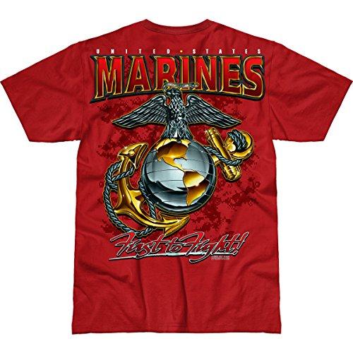 7.62 Design USMC 'Eagle, Globe & Anchor' Men's Battlespace T-Shirt Scarlet LG