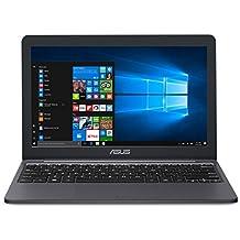 "ASUS VivoBook E203MA Ultra Thin Laptop, Intel Celeron N4000 Processor (up to 2.6 GHz), 4GB LPDDR4 , 64GB eMMC Flash Storage, 11.6"" HD Display, USB-C, Windows 10 S Mode, E203MA-YS03"