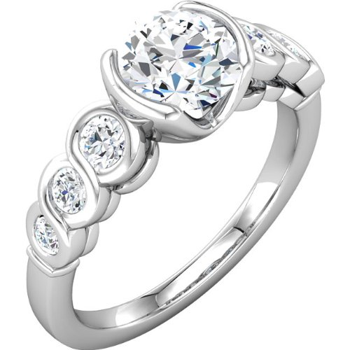 1.40ct Diamond Engagement Ring SCULPTURAL-INSPIRED 14K/W