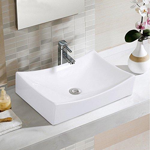 Giantex Bathroom Rhombus Ceramic Vessel