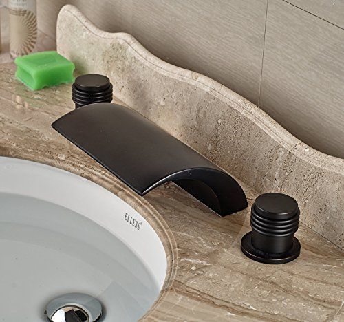 Rozin Oil Rubbed Bronze Waterfall Bathtub Faucet Two Handles Widespread Mixer Tap