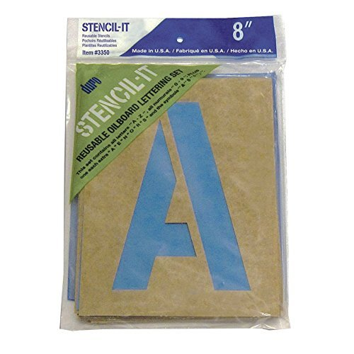 Duro by Graphic Products Stencil-It Oil Board Stencil Set, 8