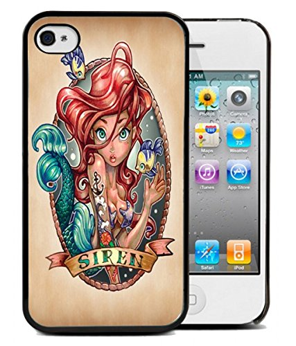 Coque silicone BUMPER souple IPHONE 4/4s - Princesse TATTOO swag punk tatouŽe fuck motif 3 DESIGN case+ Film de protection OFFERT