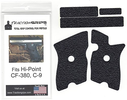Tractiongrips rubber grip tape overlay for Hi-Point CF-380, C-9 pistols ()