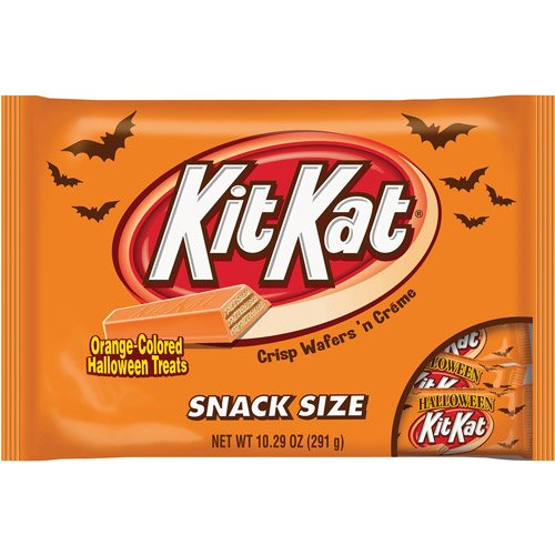 Kit Kat Halloween Orange (KIT KAT Halloween Orange Colored White Creme Wafer Bars (10.29 Ounce Bag, Pack of)