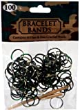 Loom Bracelet Bands 100 GREEN, BROWN & BLACK CAMO TIE DYE Rubber Bands with Hook Tool & Clips