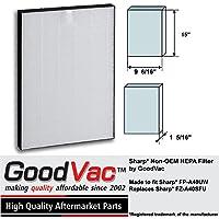 Sharp Non-OEM HEPA FZ-A40SFU FP-A40UW Air Purifier Filter by GoodVac