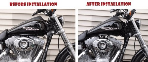 Fits 2010-Up Custom Harley-Davidson Dyna Glide Gas Tank Lift Kit 3 inch