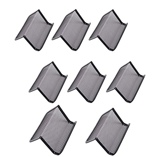 M-Aimee Pack of 8 Mesh Collection Business Card Holder (Black)