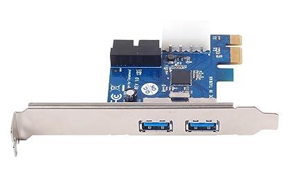 SilverStone SST-EC04-P - 2 Puertos PCI-E a USB 3.0 Tarjeta Express, con Conector Macho de Potencia de 5V y 4 Pines y 1 Conector USB 3.0 de 20 Pines ...