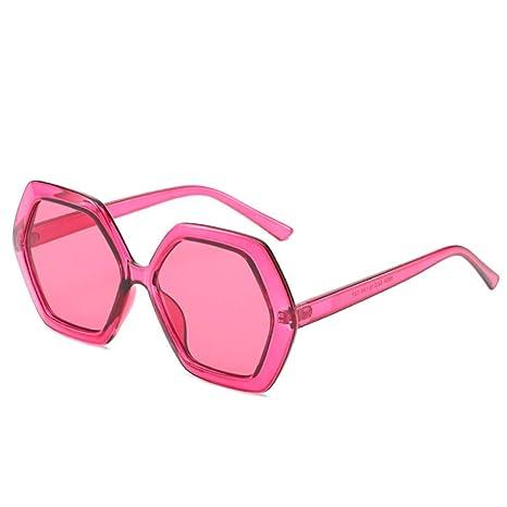Yangjing-hl Gafas de Sol Retro Gafas de polígono para Mujer ...