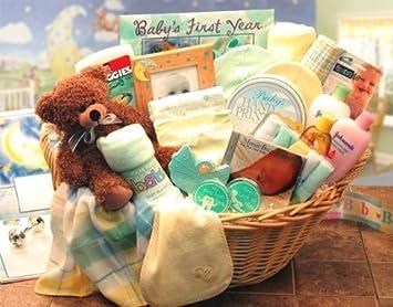 Newborn Baby Gift Basket -Neutral Deluxe : Baby