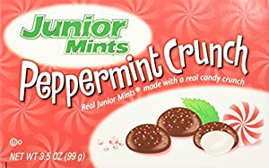 Junior Mints Peppermint Crunch, 3.5 oz Boxes in a BlackTie Box (Pack of 4)