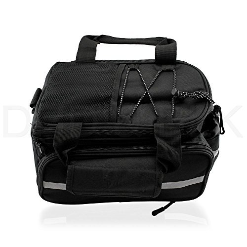 Simply Silver - Outdoor Bike Bicycle Cycling Pannier Strap-On Bag Rear Rack Seat Handbag Bags