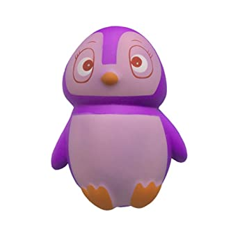 Adeeing Color Changing Girls Penguin Shape Decor Kids Stress Reliver Squishy Toy