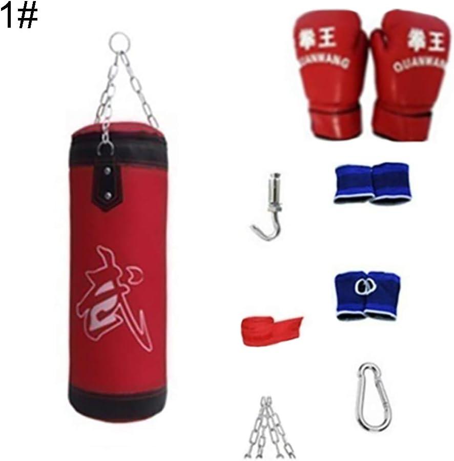 8 Piezas//Set Fitness Training MMA Saco De Boxeo Sport Kick Hanging Sandbag 1# Saco De Boxeo para Entrenamiento De Boxeo turkeybaby Conjunto De Saco De Boxeo