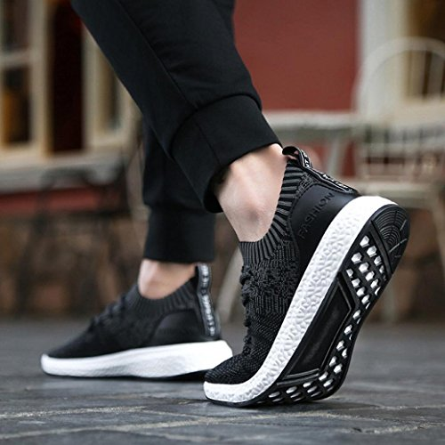 Breathable Gym Sports Sneakers Air Men Flip Thongs Tied for Outdoor Wedge Mesh Walking Lace Hiking up Cross Black Espadrilles Shoes Trainers Flats Running Workout Flops VEMOW Uq6gnZq