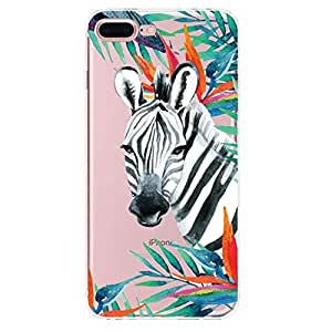 Iphone 7 Plus Case Clear, Soft Ultra Thin Silicone TPU Gel Rubber Perfection Cover Zebra B