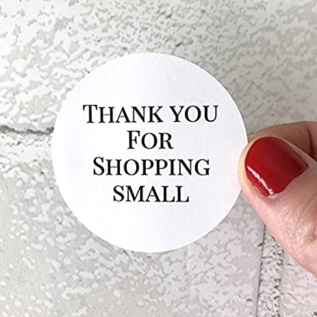 40 thank you for shopping small stickers sticker round circle favor bag gift label
